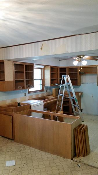Cabinet Repainting For Interior Remodeling Project In Springfield Mo